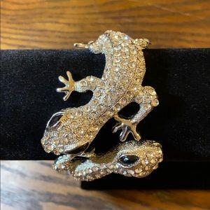 NWT Natasha Crystal Gecko Lizard Bracelet $48